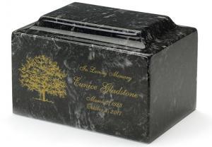 Ebony Cultured Marble Cremation Urn Vault