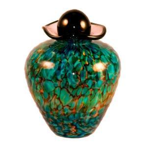 Small Bella Art Glass Urn - Aegean Colors