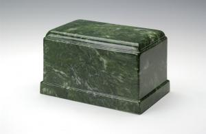 Emerald Green Olympus Cultured Marble Cremation Urn