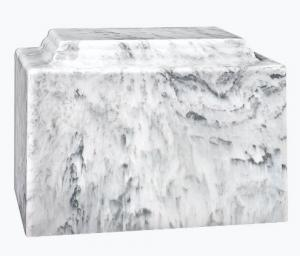 Dove Gray Cultured Marble Cremation Urn