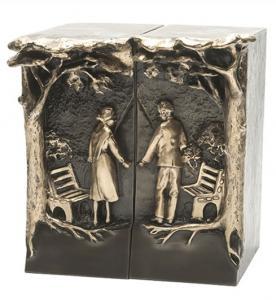 Eternal Love Bronze Companion Cremation Urn