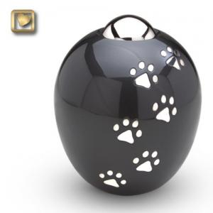 Small Adore Paws Pet Cremation Urns in Midnight
