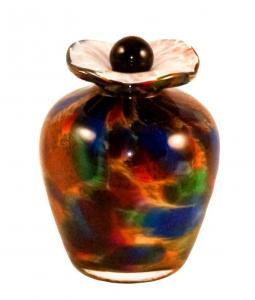 Bella Autumn Glass Keepsake Cremation Urn