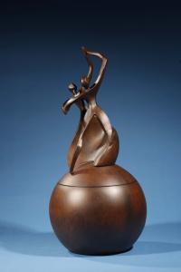 Dance of Life Cultured Wood Cremation Urn