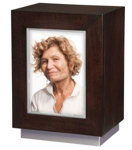 Contemporary Photo Wood Cremation Urn