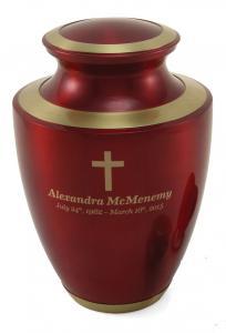 Trinity Crimson Red Brass Cremation Urn