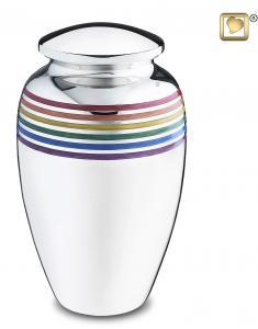 Rainbow Pride Brass Cremation Urn