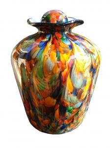 Bella Autumn Glass Adult Cremation Urn