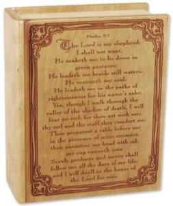 Psalm 23 Wood Book Companion Cremation Urn