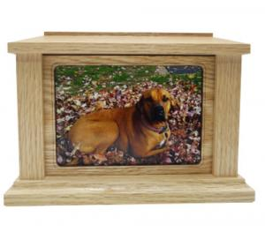 Rectangle Photo Frame Oak Cremation Urn