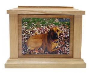 Rectangle Photo Frame Cherry Cremation Urn