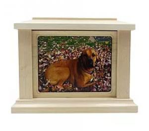 Rectangle Photo Frame Maple Cremation Urn