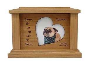 Cascading Photo Frame Cherry Cremation Urn