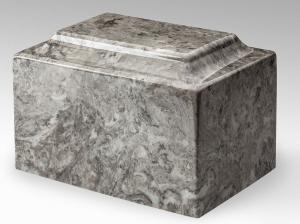 Cashmere Gray Marble Cremation Urn Vault