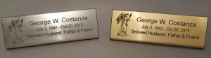 Gold or Silver Easel Nameplate