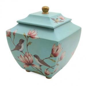 Magnolia Lovebirds Adult Cremation Urn