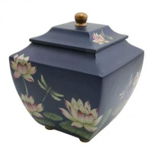 Water Lily Dragonfly Adult Cremation Urn