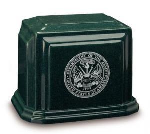 Military Cultured Granite Cremation Urn