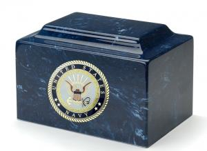 US Navy Cultured Marble Urn Vault