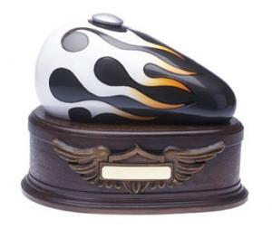 Charcoal Born to Ride Motorcycle Cremation Urn