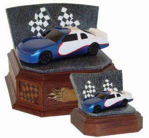 Speedway Series Blue Race Car Cremation Urn