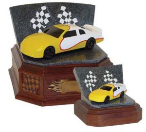 Speedway Series Yellow Race Car Cremation Urn