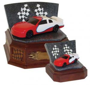 Speedway Series Red Race Car Cremation Urn