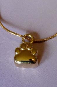 Gold Paw Pet Cremation Keepsake
