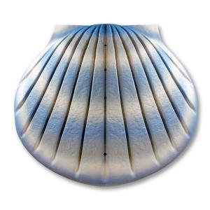 Shell Deep Water Bio-Urn in Aqua