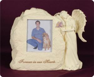 Stone Picture Frame With Angel Cremation Urn