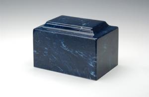 Navy Cultured Marble Urn Vault