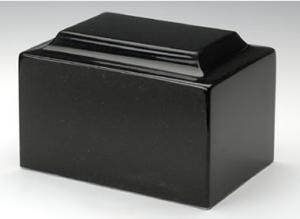 Orca Black Cultured Marble Urn