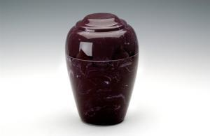 Merlot Grecian Marble Cremation Urn
