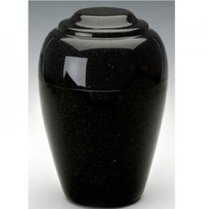 Orca Black Grecian Cultured Granite Cremation Urn
