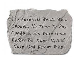 Farewell Garden Marker