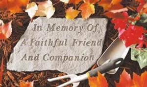 Pet Memorial Stone - In Memory