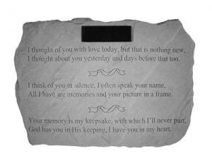 I Thought of You Personlaized Memorial Marker